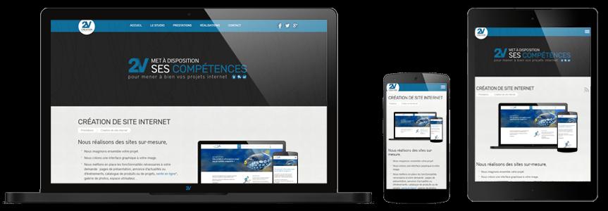 Site sur ordinateur, mobile et tablette