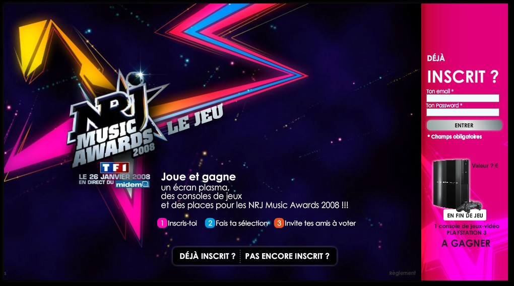 Jeu NRJ Music Awards 2008