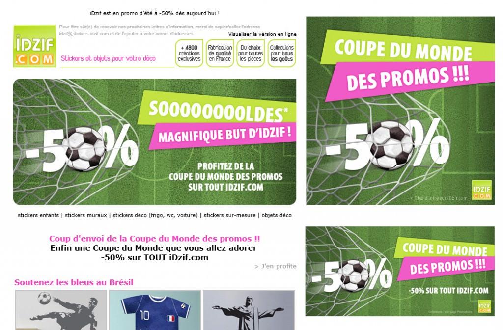 Cr ation campagne web newsletter d clinaisons idzif - Coupe de france en direct sur internet ...